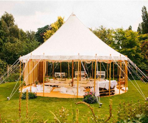 Como são as tendas de decoração